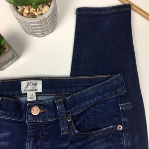 J Crew Toothpick Jeans Skinny Size 28
